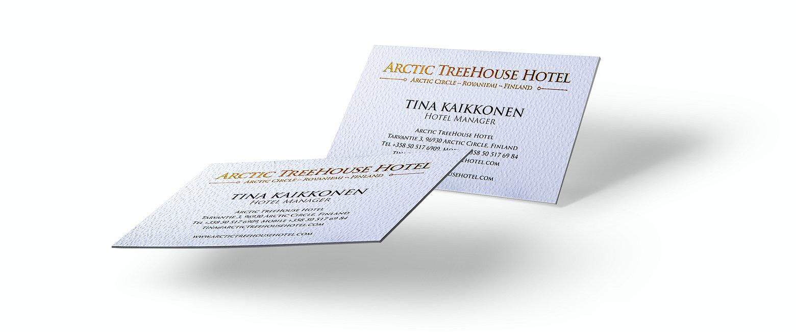 Arctic Treehouse Hotel_käyntikortti