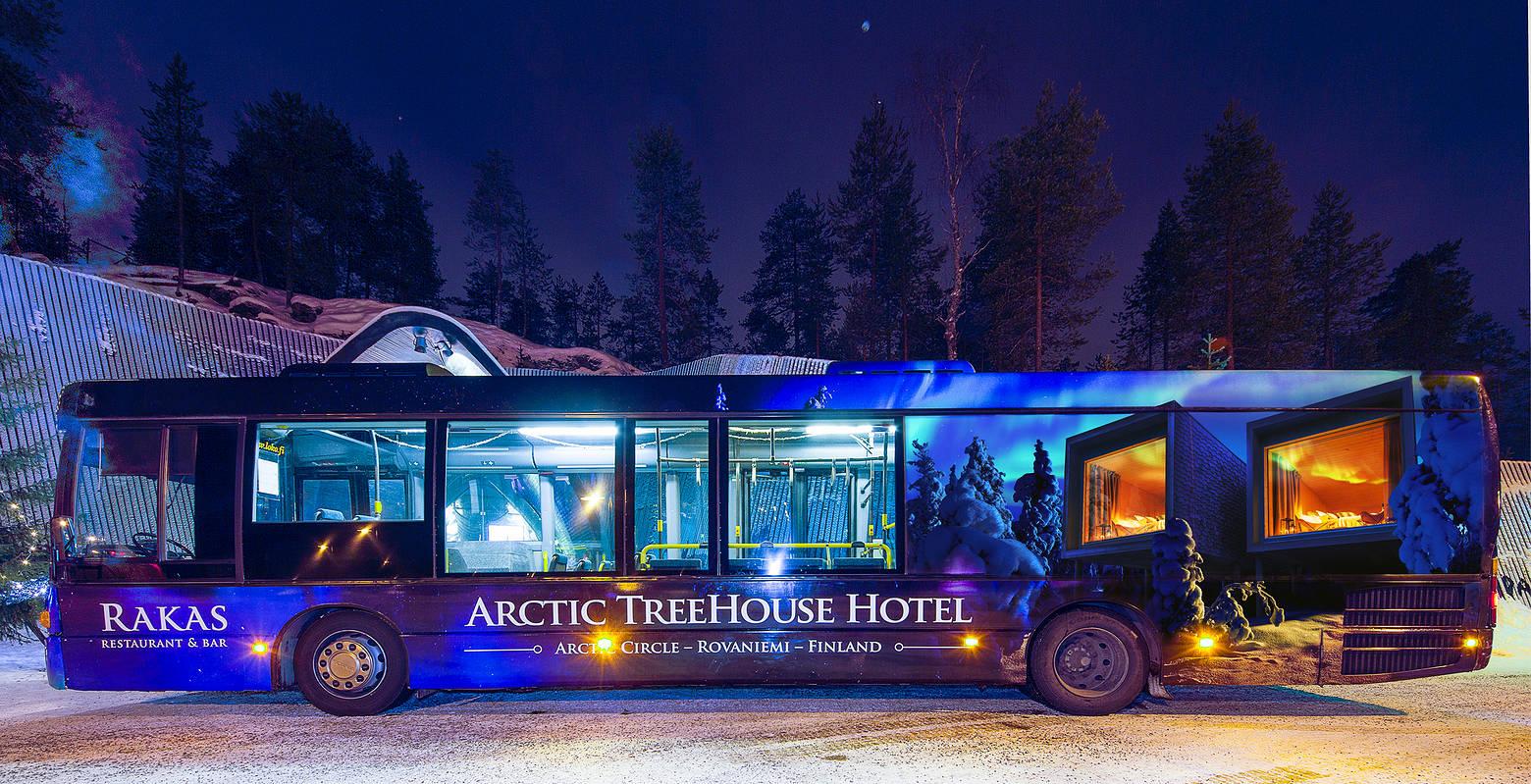 Arctic TreeHouse Hotel bussilinjan ilme