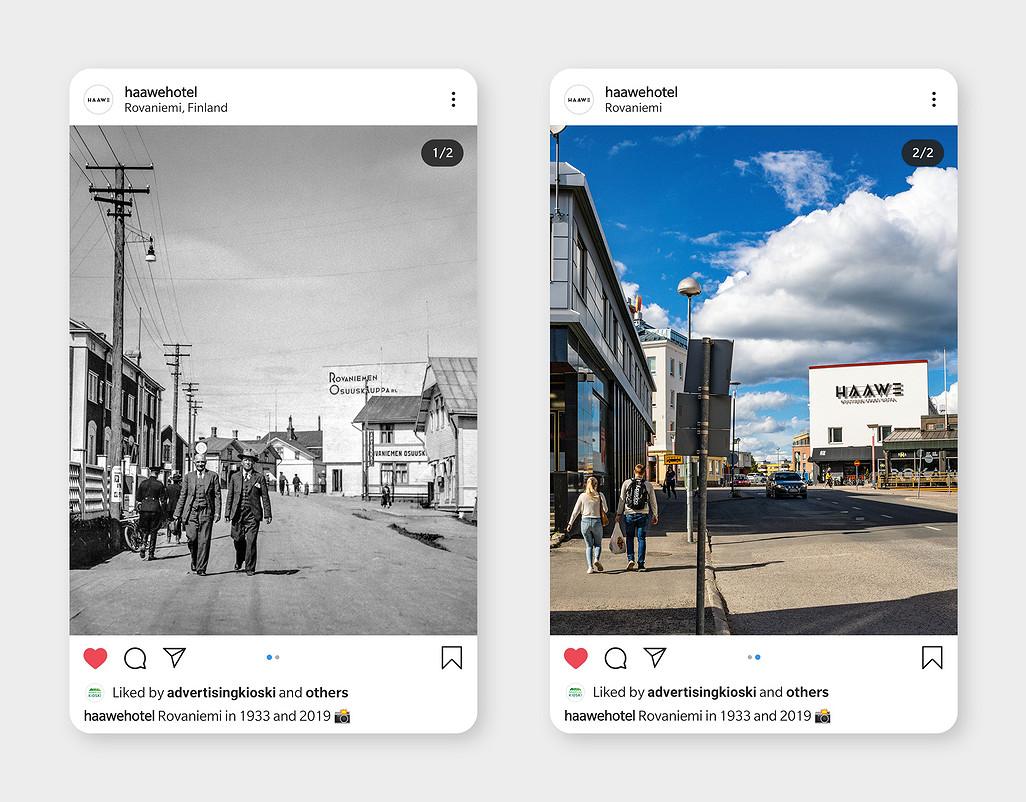 Teimme Haaweelle sisällöntuotantoa Instagramiin.