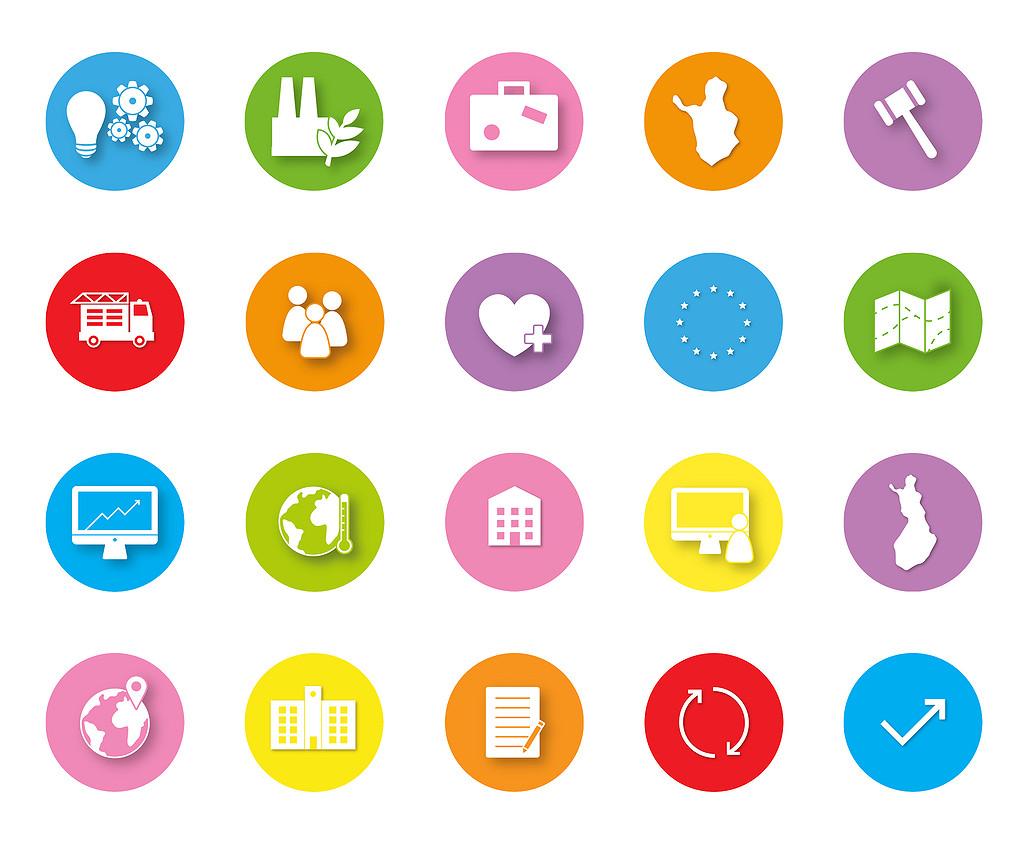 Ikoneilla voidaan tehdä viestintämateriaaleista kiinnostavat.