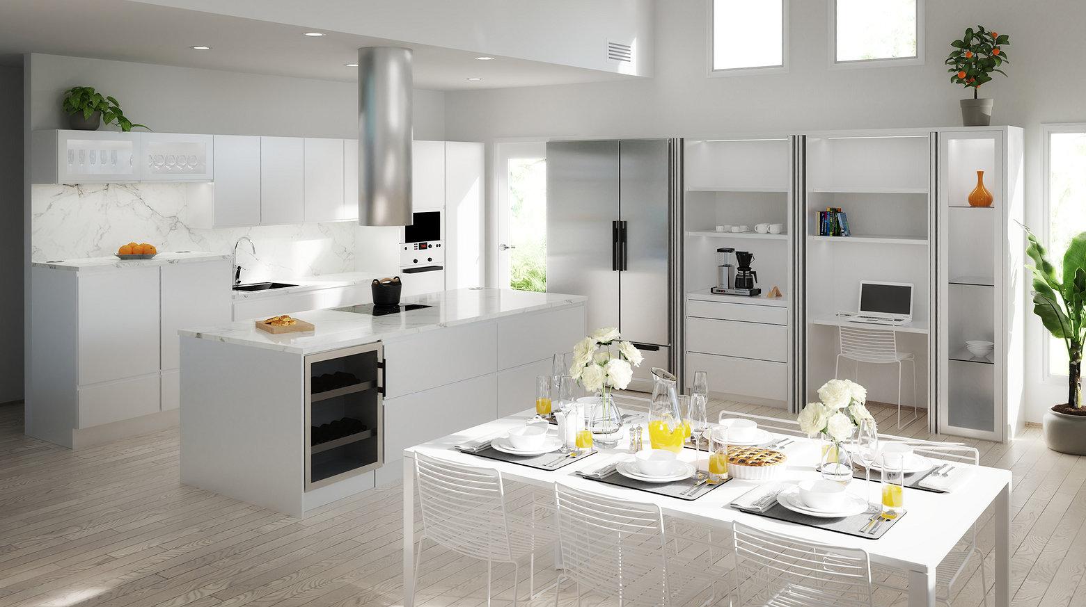 Peltoniemi mallinnettu kuva keittiöstä
