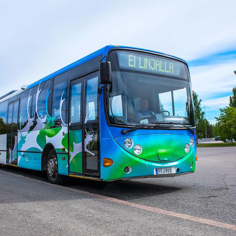 Kuvasimme linja-autoteippauksia markkinointimateriaaleja varten.