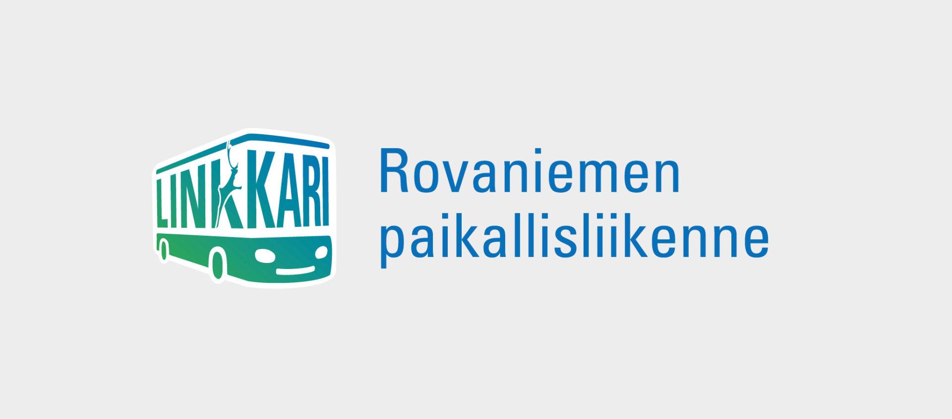 Rovaniemen kaupungin Linkkarin tunnus.