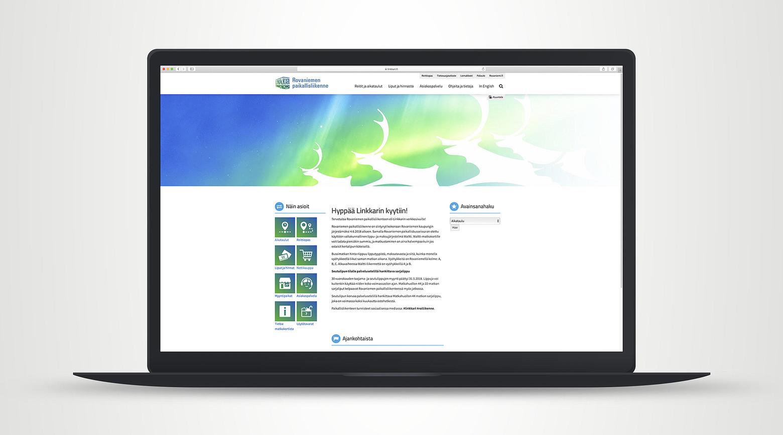 Linkkarin nettisivut ovat osa Rovaniemen kaupungin julkisia palveluita.