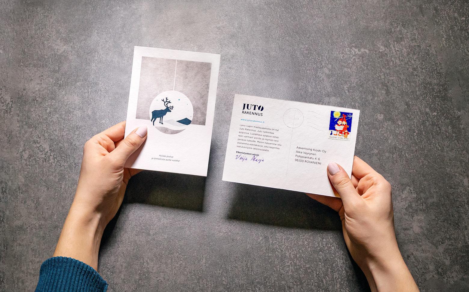 Brändiuudistuksen myötä suunniteltiin tiedottamisen tueksi kortit.