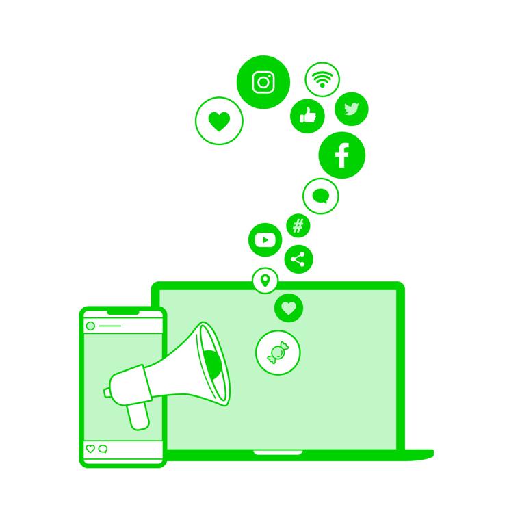 Autamme sosiaalisen median sisällöntuotannon kanssa.