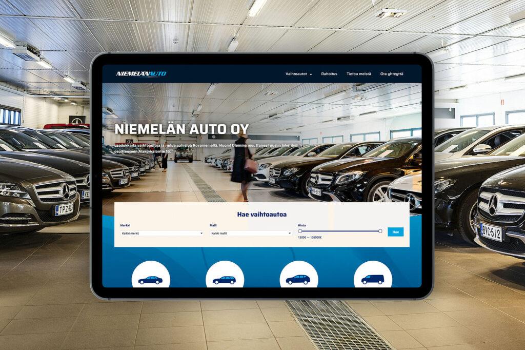 Teknisesti monipuoliset verkkosivut säästävät hermoja ja kestävät kehitystä – Niemelän auto