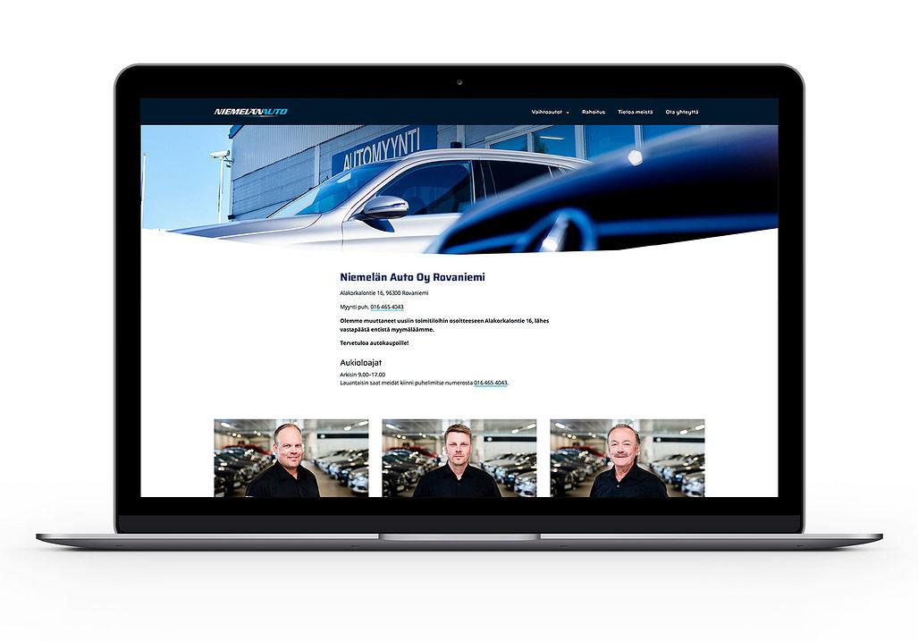 Sivuston Ota yhteyttä -sivu